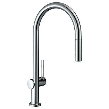 hansgrohe Talis M54 Single Lever Kitchen Mixer 210 with Pull Out Spray and sBox - Chrome