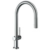 hansgrohe Talis M54 Single Lever Kitchen Mixer 210 with Pull Out Spray and sBox - Chrome - 72801000 profile small image view 1