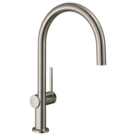 hansgrohe Talis M54 220 C-Spout Single Lever Kitchen Mixer - Stainless Steel - 72804800