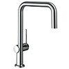hansgrohe Talis M54 220 U-Spout Single Lever Kitchen Mixer - Chrome - 72806000 profile small image view 1