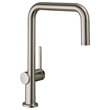 hansgrohe Talis M54 220 U-Spout Single Lever Kitchen Mixer - Stainless Steel - 72806800