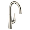 hansgrohe Talis M51 Single Lever Kitchen Mixer 260 - Stainless Steel - 72810800 profile small image view 1