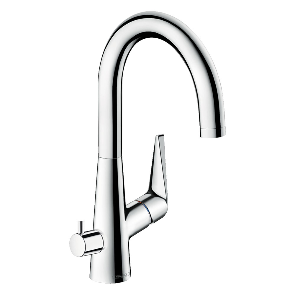 hansgrohe Talis M51 Single Lever Kitchen Mixer 220 with Shut-Off Valve - 72811000