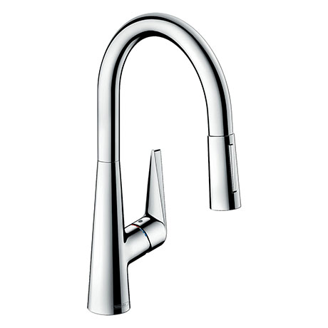 hansgrohe Talis M51 Single Lever Kitchen Mixer 200 with Pull Out Spray - Chrome - 72813000