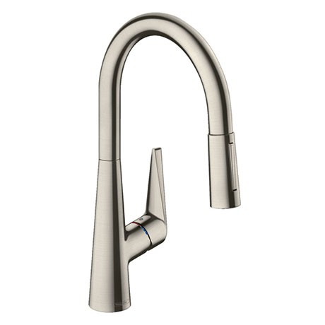 hansgrohe Talis M51 Single Lever Kitchen Mixer 200 with Pull Out Spray - Stainless Steel - 72813800