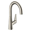 hansgrohe Talis M51 Single Lever Kitchen Mixer 220 - Stainless Steel - 72814800 profile small image view 1