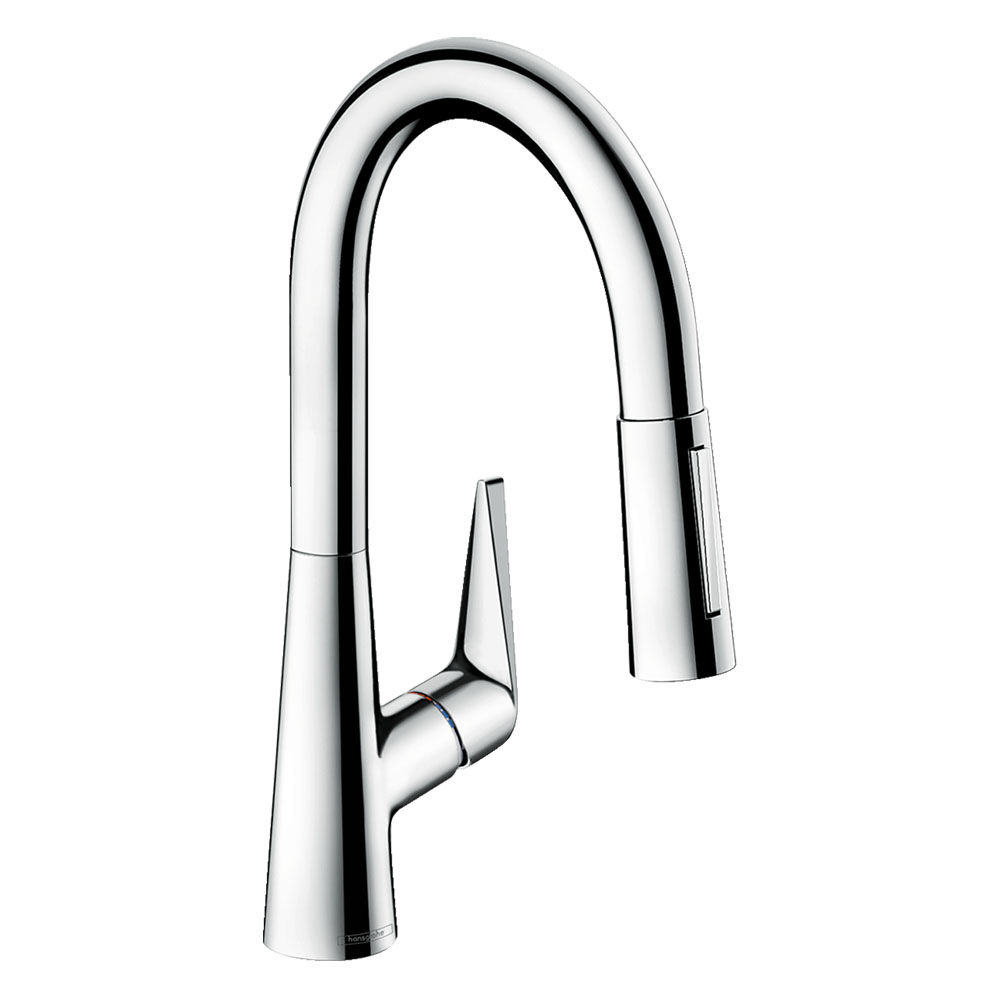 hansgrohe Talis M51 Single Lever Kitchen Mixer 160 with Pull Out Spray - Chrome - 72815000