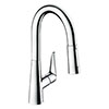 hansgrohe Talis M51 Single Lever Kitchen Mixer 160 with Pull Out Spray - Chrome - 72815000 profile small image view 1