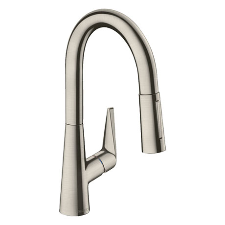hansgrohe Talis M51 Single Lever Kitchen Mixer 160 with Pull Out Spray - Stainless Steel - 72815800