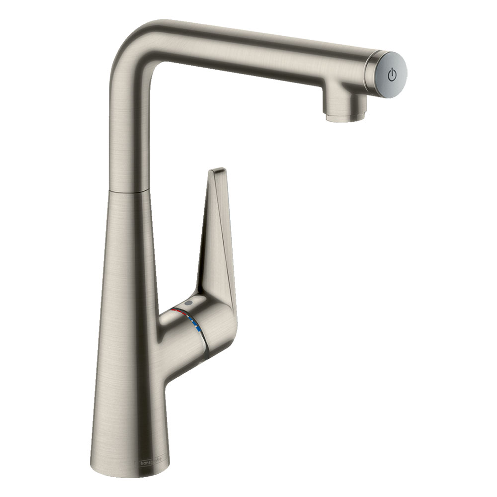 hansgrohe Talis Select S 300 Single Lever Kitchen Mixer - Stainless Steel - 72820800