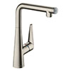 hansgrohe Talis Select S 300 Single Lever Kitchen Mixer - Stainless Steel - 72820800 profile small image view 1