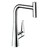 hansgrohe Talis Select M51 Single Lever Kitchen Mixer 300 with Pull Out Spray - Chrome - 72821000 profile small image view 1