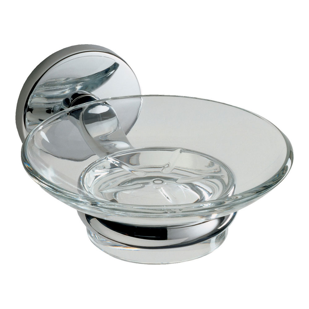 Roper Rhodes Lincoln Glass Soap Dish & Holder - 73014 Large Image