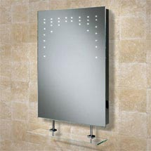 HIB Rain LED Mirror with Charging Socket - 73105200 Medium Image