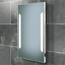 HIB Zenith Fluorescent Illuminated Mirror with Charging Socket - 73105500 Medium Image