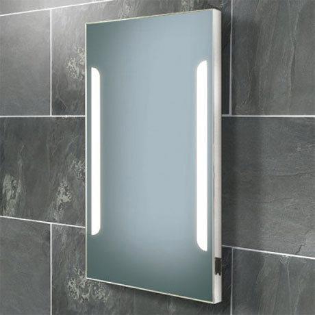 HIB Zenith Fluorescent Illuminated Mirror with Charging Socket - 73105500