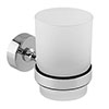 Orion Frosted Glass Tumbler & Holder - Chrome profile small image view 1