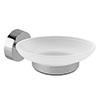 Orion Frosted Glass Soap Dish & Holder - Chrome profile small image view 1