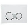 Vitra Sirius Mechanical Flush Plate - Chrome - 7400480 profile small image view 1