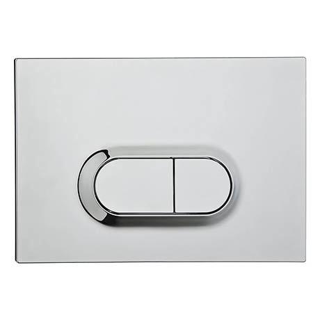 Vitra Loop O Mechanical Flush Plate - Chrome - 7400580