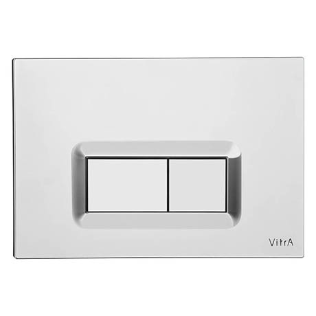 Vitra Loop R Mechanical Flush Plate - Chrome - 7400680