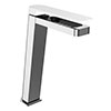 JTP Axel Chrome Tall Single Lever Basin Mixer with Matt White Handle profile small image view 1