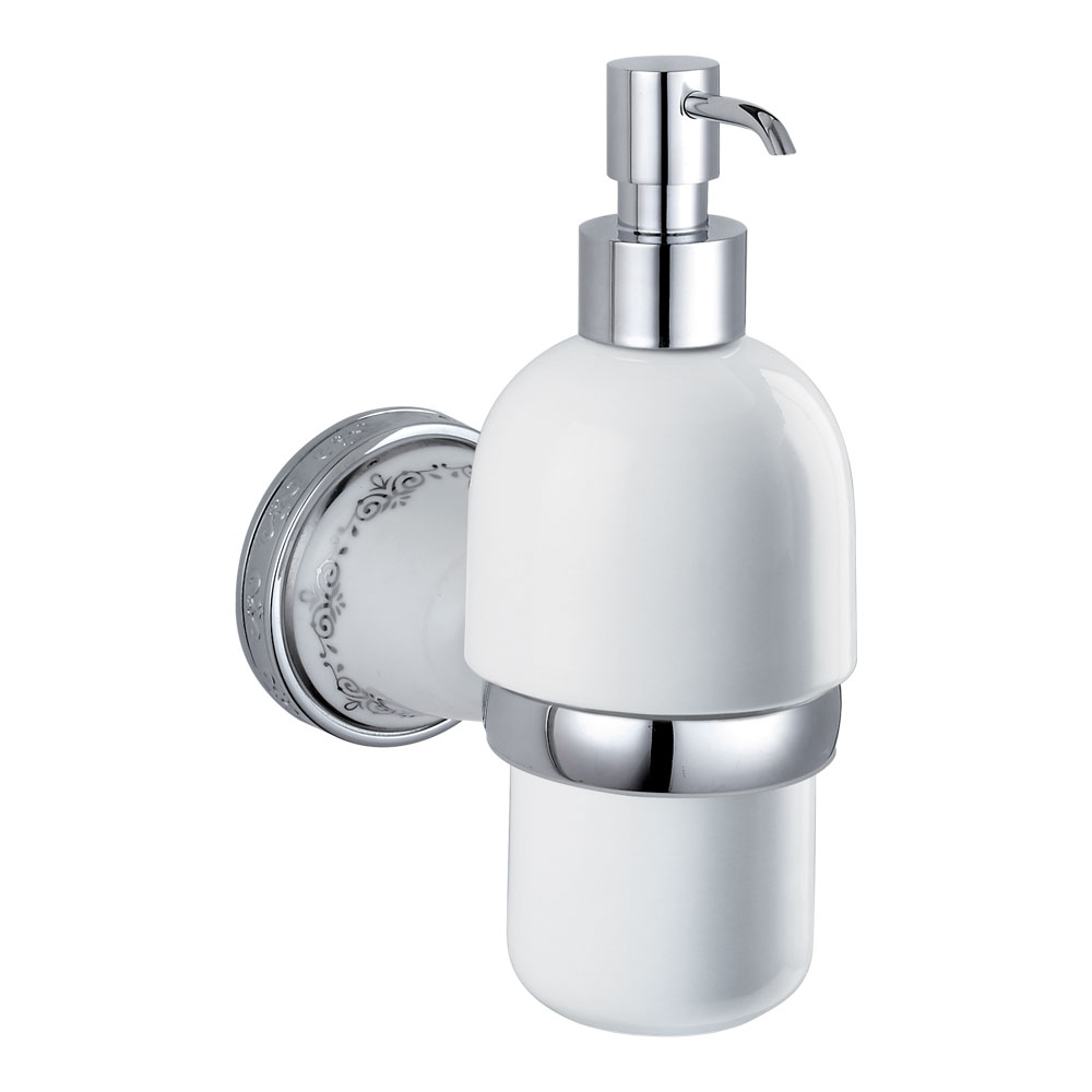 Charlbury Traditional Ceramic Soap Dispenser - Chrome profile large image view 1