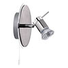 Searchlight Aries Chrome & Satin Silver Wall Spotlight - 7441CC-LED profile small image view 1