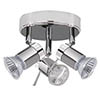 Searchlight Aries 3 Light Chrome & Satin Silver Spotlight - 7443CC-LED profile small image view 1