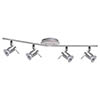 Searchlight Aries 4 Light Adjustable Bar Chrome & Satin Silver Spotlight - 7444CC-LED profile small image view 1
