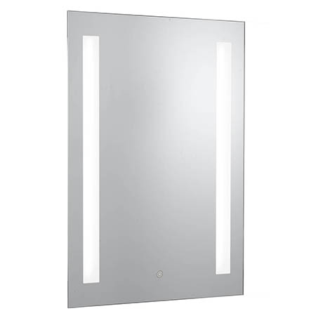 Searchlight Illuminated 2 Light Touch Bathroom Mirror with Shaver Socket - 7450