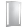 Searchlight Illuminated 2 Light Touch Bathroom Mirror with Shaver Socket - 7450 profile small image view 1