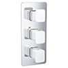 JTP Axel Triple Outlet Thermostatic Concealed Shower Valve Vertical with Matt White Handles profile small image view 1