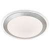Searchlight Silver LED Flush Light with White Acrylic Shade - 7684-33SI profile small image view 1