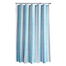 Aqualona Coastal Stripe Polyester Shower Curtain - W1800 x H1800mm - 77108 Medium Image
