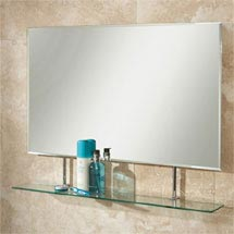 HIB Sati Rectangular Bathroom Mirror with Glass Shelf - 77264000 Medium Image