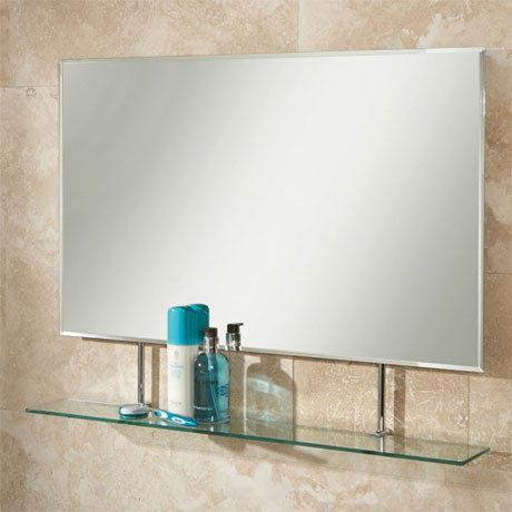 HIB Sati Rectangular Bathroom Mirror with Glass Shelf - 77264000