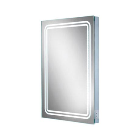 HIB Rotary LED Mirror with Charging Socket - 77416000 profile large image view 2
