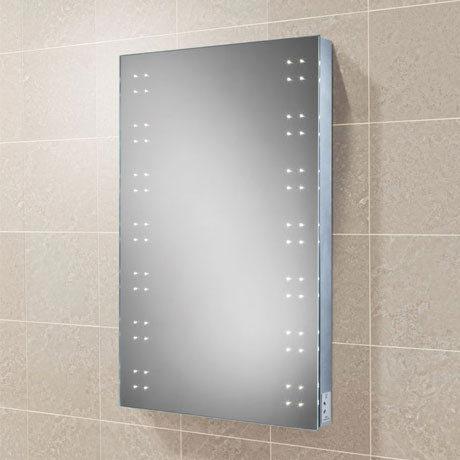 HIB Ariel LED Mirror with Charging Socket - 77470000