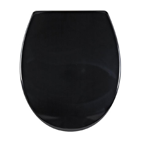 Aqualona Duroplast Soft Close Toilet Seat with Quick Release - Black - 77504
