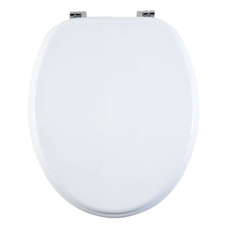 Aqualona White Wooden MDF Toilet Seat - 77573