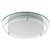 Searchlight Chrome Flush Fitting with Mirror Backplate & Opal Glass - 7803-36 profile small image view 1