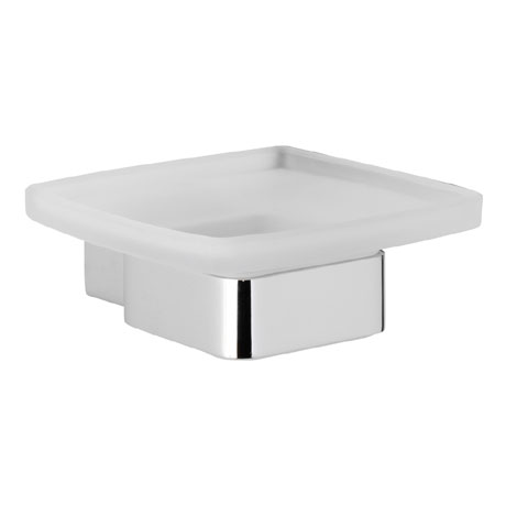 Roper Rhodes Horizon Frosted Glass Soap Dish & Holder - 7814.02
