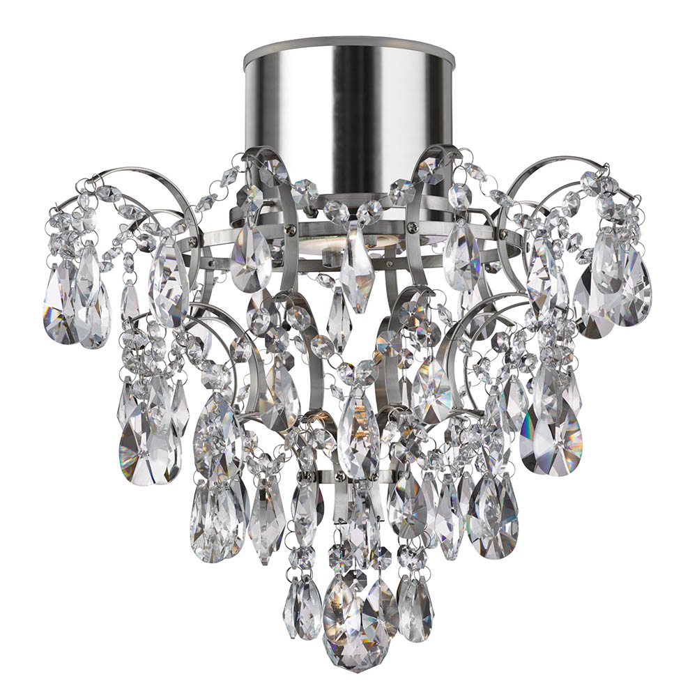 Searchlight Hanna Chandelier with Crystal Droplets & Buttons - 7901-1CC-LED