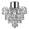 Searchlight Hanna Chandelier with Crystal Droplets & Buttons - 7901-1CC-LED profile small image view 1