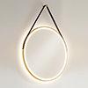 HIB Solstice Brushed Brass 60 Round LED Illuminated Mirror - 79520750 profile small image view 1