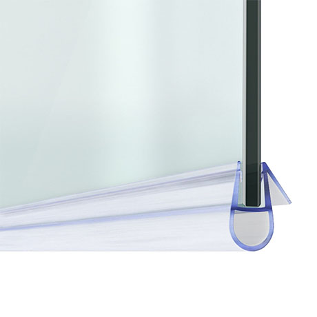 Bath Shower Screen Door Seal Strip - Glass 4-6mm / Gap 7mm