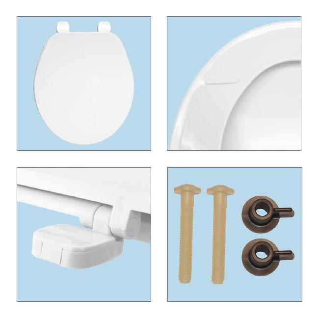 Bemis Ashford Toilet Seat with Adjustable Hinges - 7E70AR000 profile large image view 3