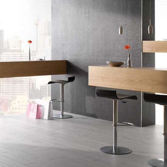 RAK - 1 Lounge Dark Grey Porcelain Mosaic Unpolished Tile Sheet - 300x300mm - 7GPD56UP-MOS Feature Large Image