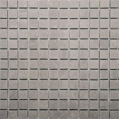 RAK - Lounge Light Grey Porcelain Mosaic Unpolished Tile Sheet - 300x300mm - 7GPD59UP-MOS